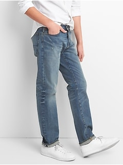 Limited-Edition Cone Denim® Selvedge Straight Jeans with GapFlex