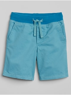 "4.5"" Pull-On Twill Shorts"