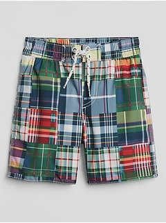 Patchwork Swim Trunks