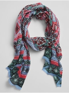 Oblong Print Scarf