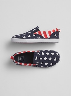 Stars & Stripes Slip-On Sneakers