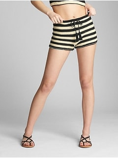 "3"" Stripe Crochet Shorts"
