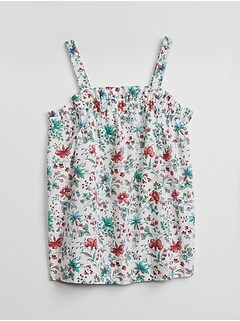 Floral Ruffle Tank Top