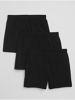 Kids Pull-On Cartwheel Shorts (3-Pack)