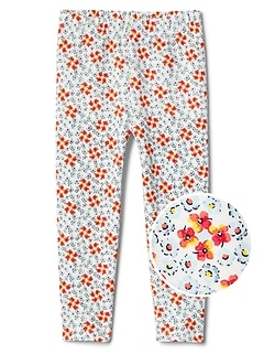 Print Leggings in French Terry