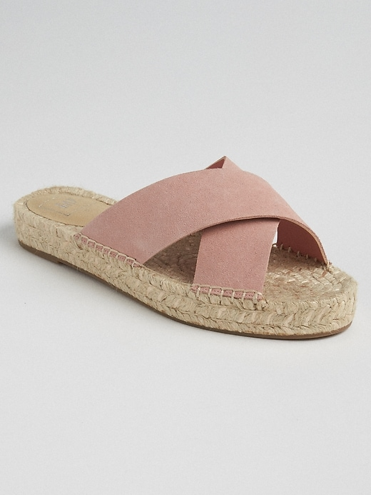 Cross Strap Espadrille Sandals by Gap