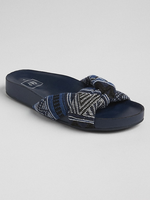 Twist Strap Slide Sandals by Gap