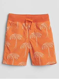 "4.5"" Print Pull-On Shorts"