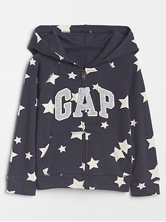 Print Logo Hoodie in French Terry