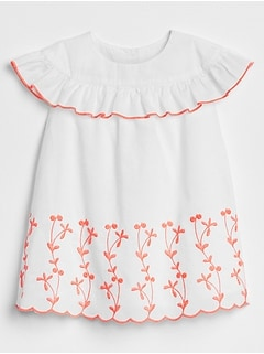 Ruffle Embroidery Dress