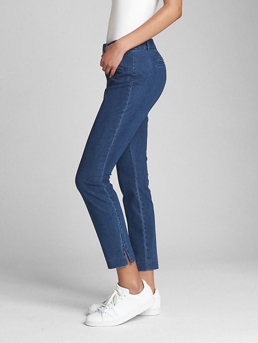 Curvy Signature Skinny Ankle Pants by Gap