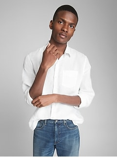 Standard Fit Shirt in Pure Linen