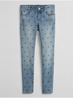 Super Skinny Jeans in Dot Print