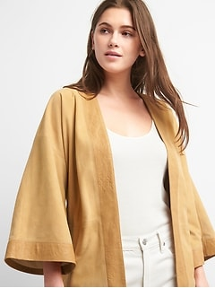 Limited Edition Belted Suede Topper Jacket