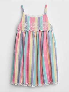 Stripe Eyelet Dress