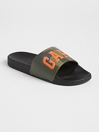 Gap Logo Slide Sandals (Camouflage)