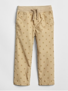 Pull-On Print Khakis