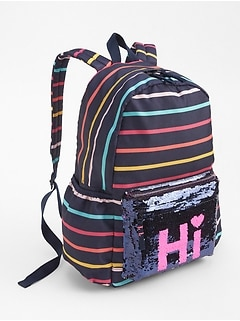 Flippy Sequin Stripe Backpack
