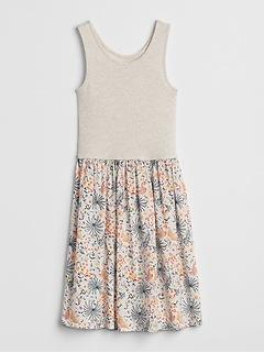 Mix-Fabric Dress