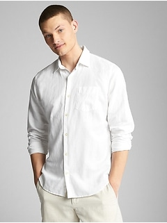 Standard Fit Shirt in Linen-Cotton