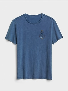 Logo Graphic Indigo Short Sleeve T-Shirt