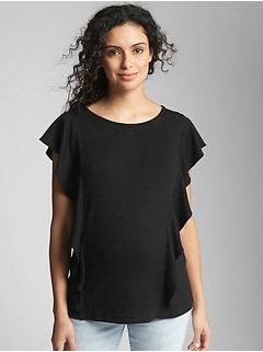 Maternity Softspun Flutter Sleeve Top