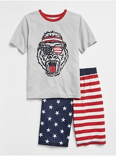 Stars & Stripes Short PJ Set