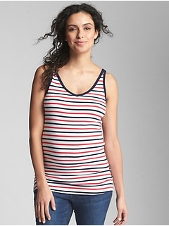 Maternity Modern V-Neck Tank Top