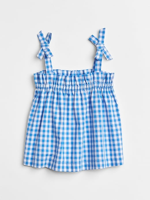Gingham Bow Tank Top by Gap