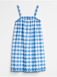 Gingham Scalloped Dress