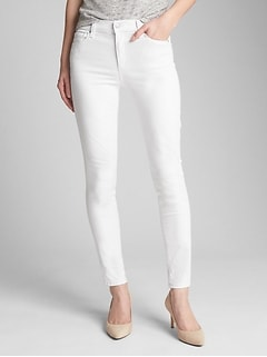 Mid Rise EverWhite True Skinny Jeans in Sculpt