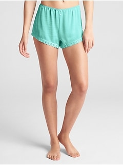 Dreamwell Satin Shorts with Lace Detail