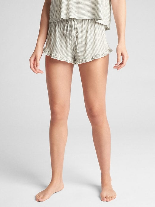 "3"" Ruffle Trim Knit Shorts by Gap"