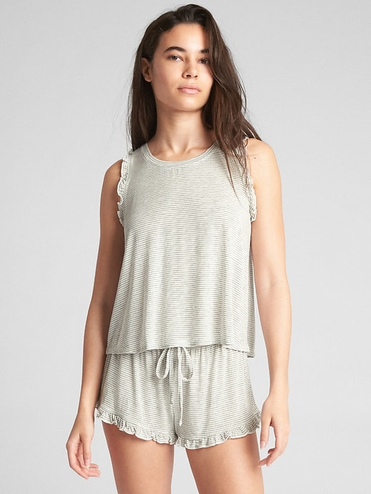Ruffle Print Tank Top by Gap
