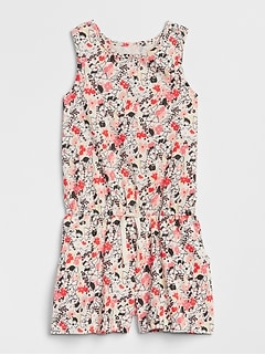 Print Twist-Back Romper