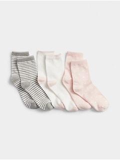 Kids Print Crew Socks (3-Pairs)