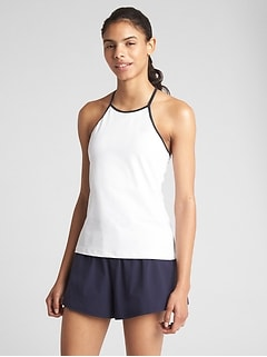 GapFit High-Neck Tennis Shelf Tank Top