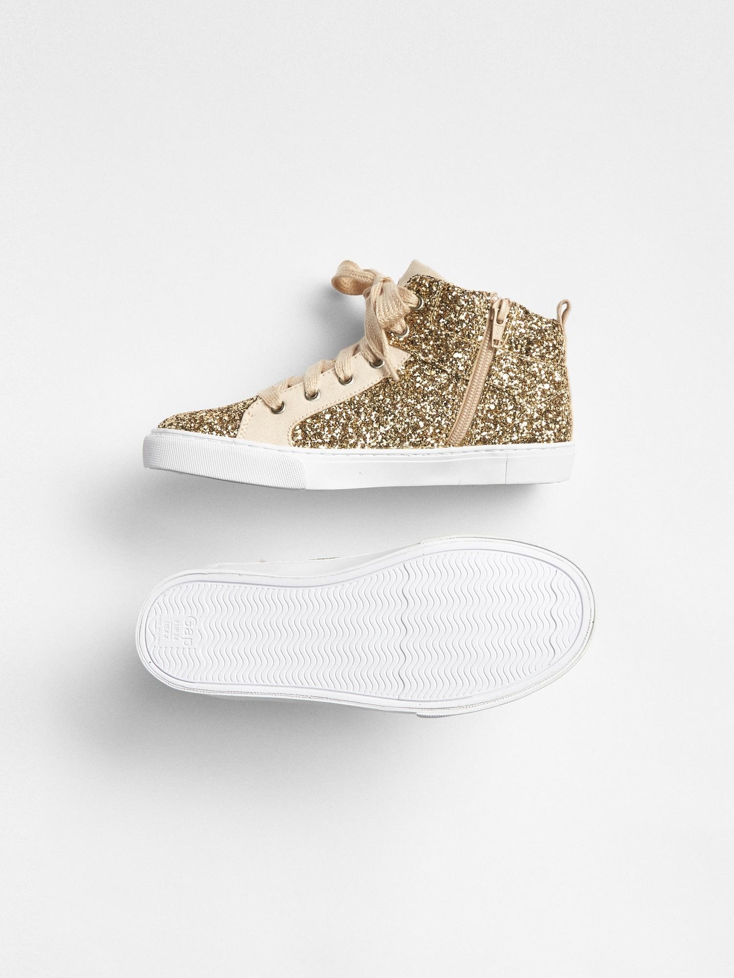 182a1c4ffea Kids Glitter Hi-Top Sneakers