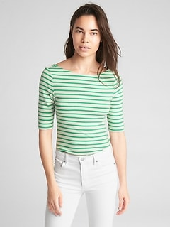 Modern Stripe Ballet-Back T-Shirt