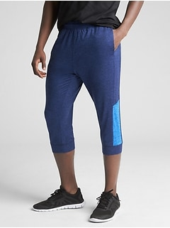 GapFit Brushed Tech Jersey Crop Joggers