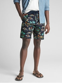 "10"" Print Board Shorts with GapFlex"