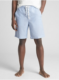 "9"" Drawstring Lounge Shorts in Poplin"