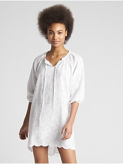 Dreamwell Floral Pattern Dress Cover-Up
