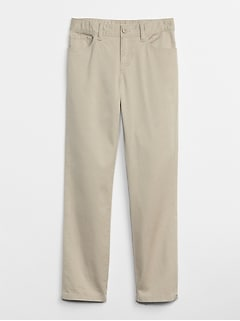 Uniform Straight Chinos in Stretch