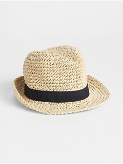 Straw Ribbon Fedora