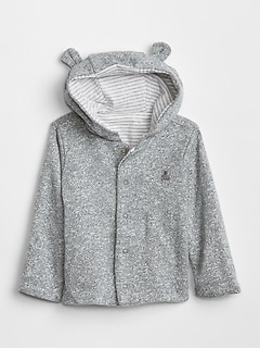 Favorite Reversible Bear Hoodie Sweatshirt