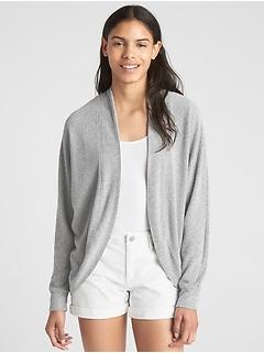 Ribbed Softspun Circle Cardigan Sweater