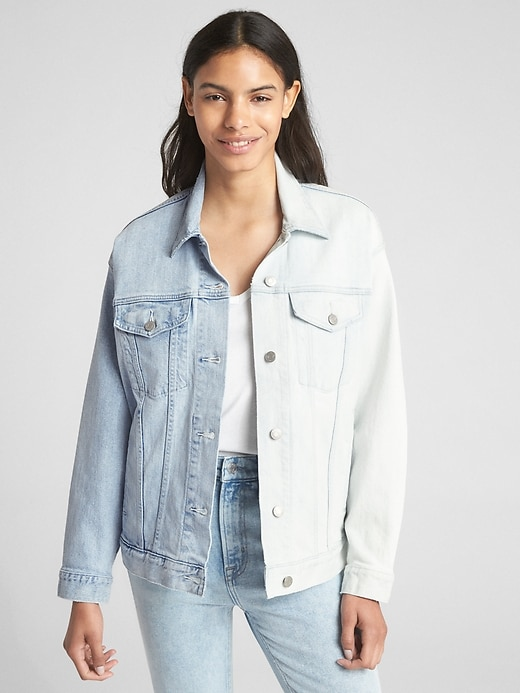 Icon Spliced Denim Jacket by Gap