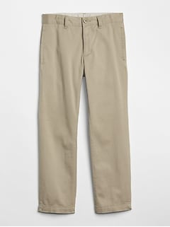 Uniform Straight Khakis in Stretch
