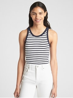 Modern Stripe Tank Top